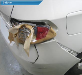 スバル インプレッサ 修理前